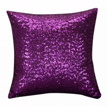 Load image into Gallery viewer, purple sequin cushion cover