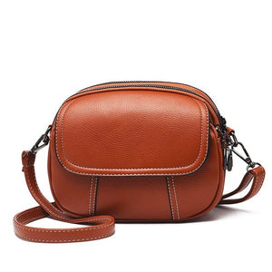 brown retro hand bag