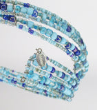 Multi-Strand CLAIRE'S Choker (Dark Blue-Light Blue-Purple)