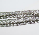 Sterling Silver + Crystal Mesh Bracelet, 925 Italy, by ALUNNO & CO
