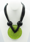 Spectacular ANTHONY ALEXANDER Lucite and Leather Vintage Necklace
