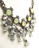 Spectacular Fantasy Princess Necklace With Rhinestones, Beads & Lucite