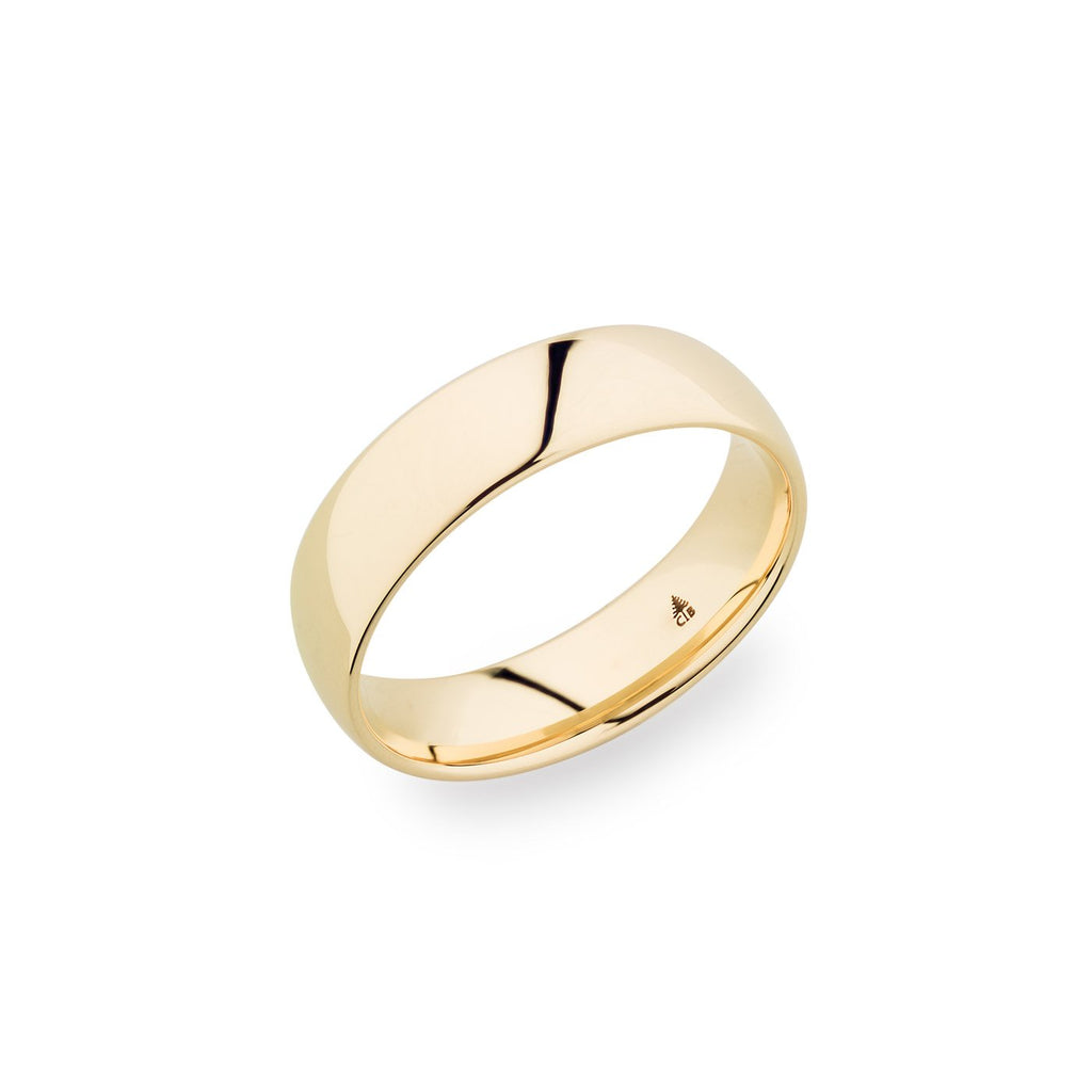 14K Yellow Gold 6mm Polished Band