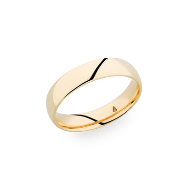 14K Yellow Gold 5mm Polished Band