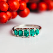 Platinum Columbia Emerald & Diamond Ring