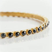 18K Yellow Gold & Black Diamond Bracelet