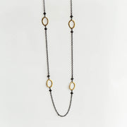 18K Yellow Gold Four Station Chain Necklace