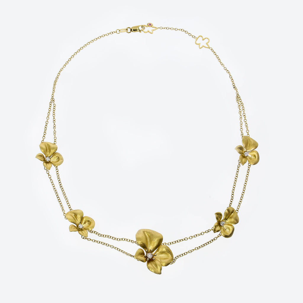 18K Yellow Gold Fiore Chain Necklace