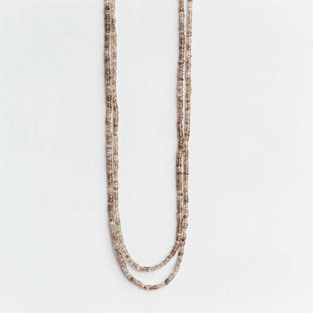 Zircon Beaded lasso Necklace
