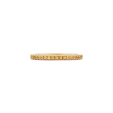 Slim Stackable Yellow Sapphire Band