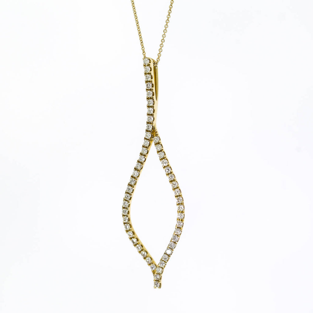 14K Yellow Gold Drop Pendant