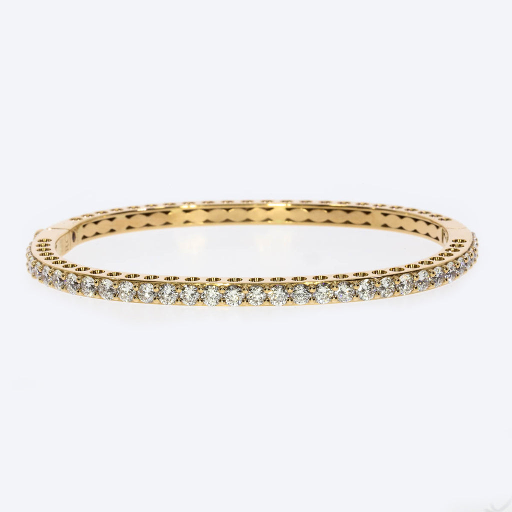18K Rose Gold Prong Bangle