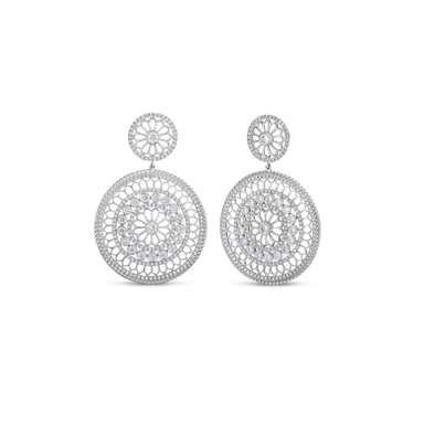 Cento Large Rosette Earrings