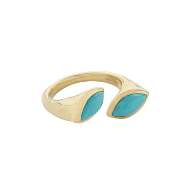 Prisma Bypass Turquoise Ring