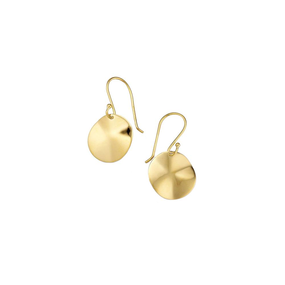 Classico Mini Wavy Disc Earrings