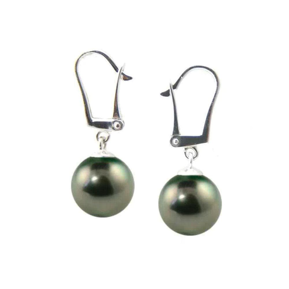 Tahitian Pearl Dangle Earrings
