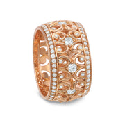 18K Rose Gold Diamond Fashion Band