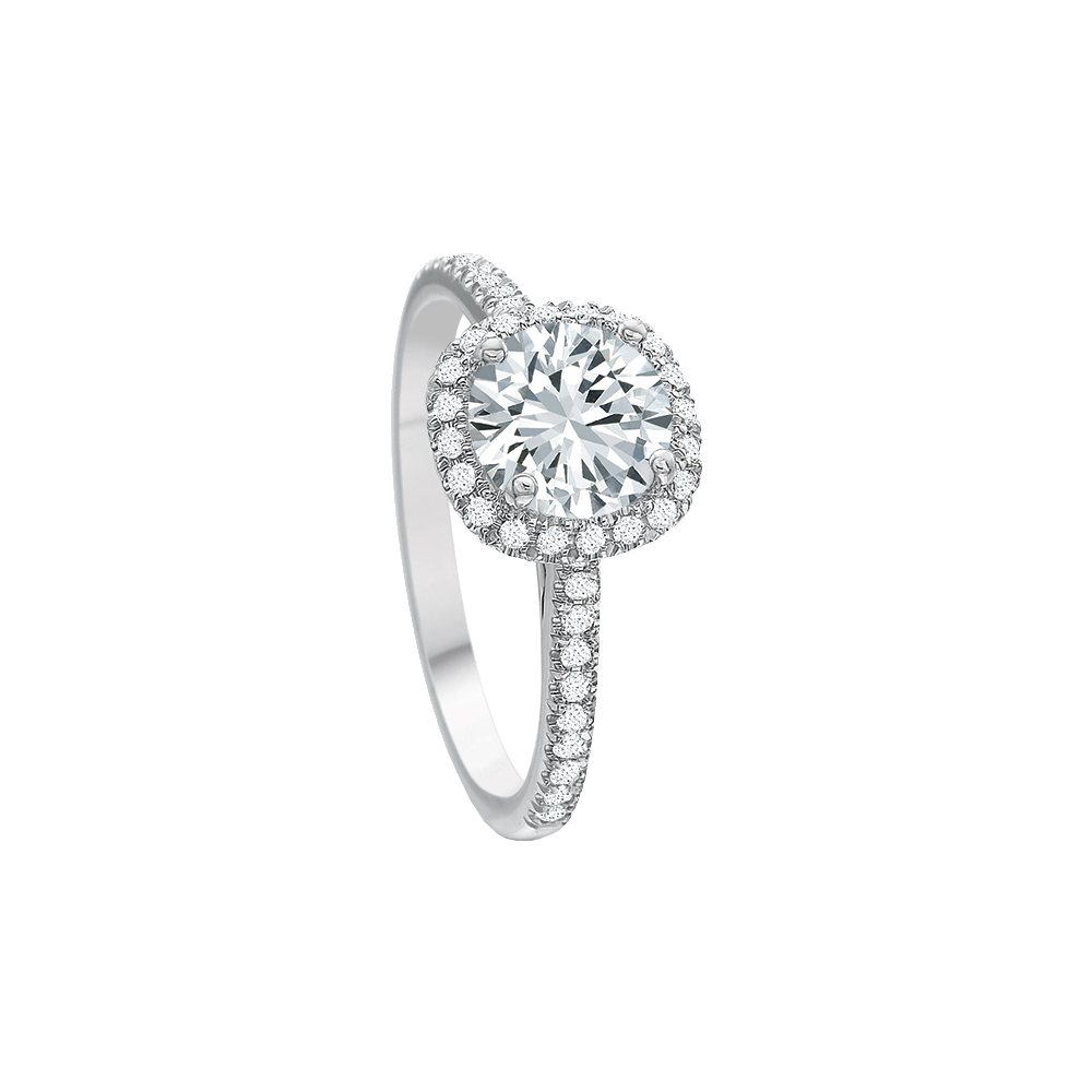New Aire Diamond Halo Setting