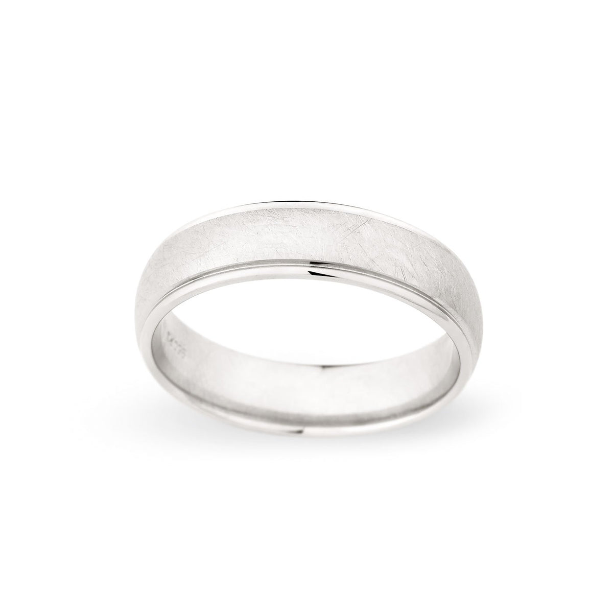 Palladium 6mm Brushed Polished Edged Band