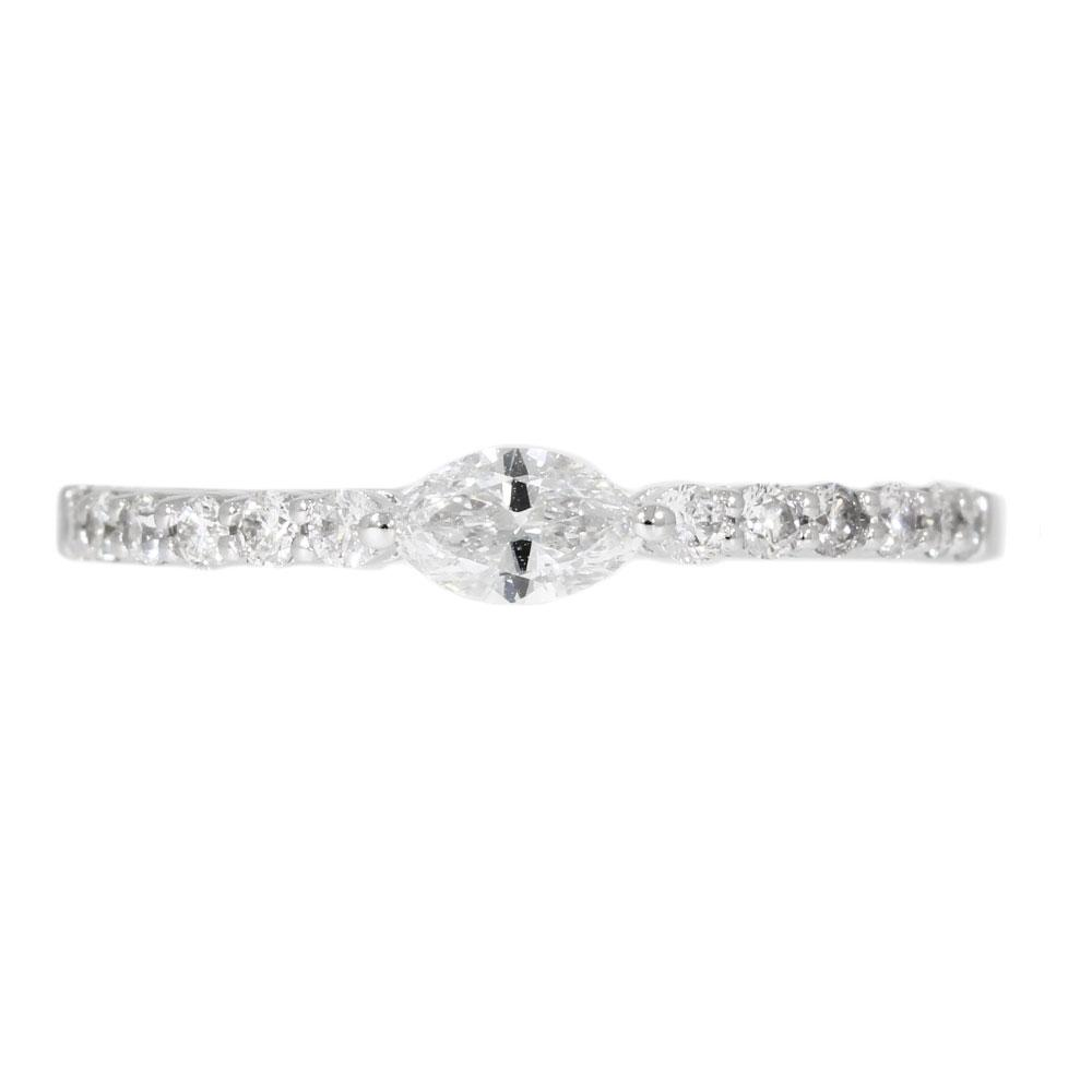 Promise Ring Marquise Cut