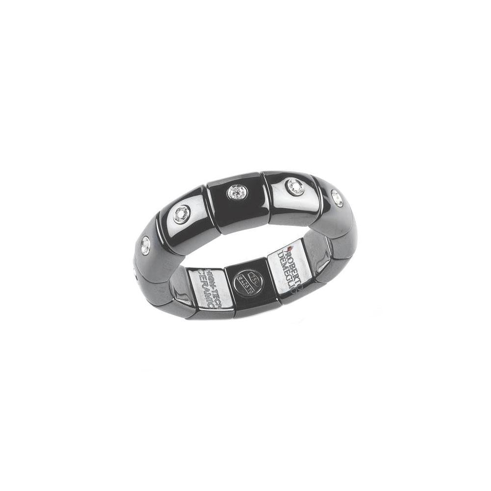 BLACK DIAMOND DOMINO ETERNITY STRETCH RING