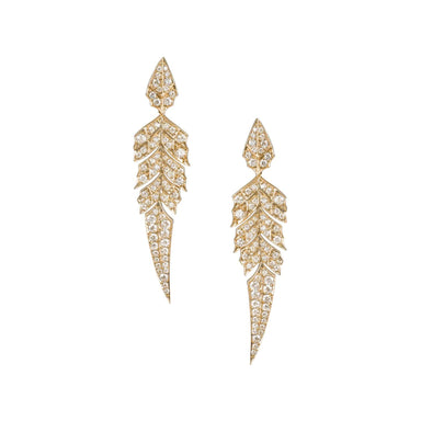 MAGNIPHEASANT PAVÉ SHORT EARRINGS Rose Gold