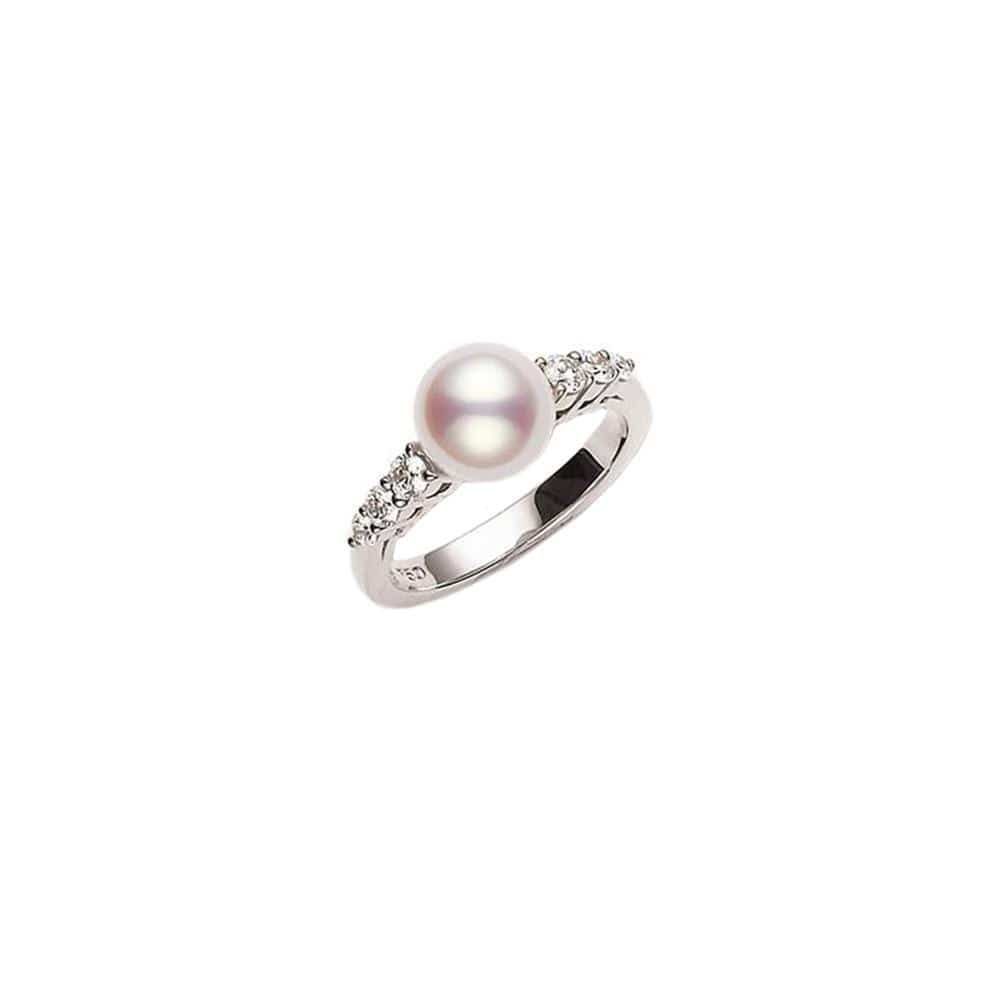 Morning Dew Akoya Cultured Pearl Ring