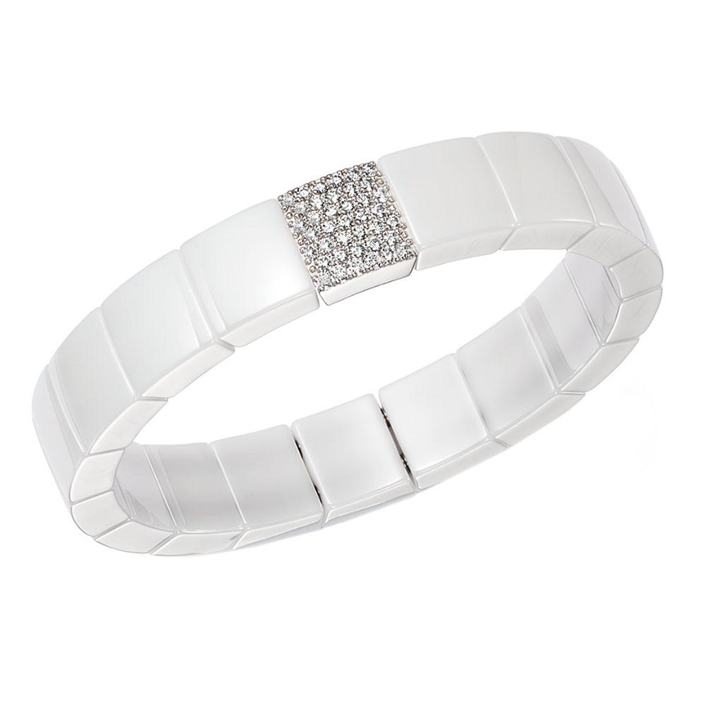 SINGLE ROW DOMINO SQUARE STRETCH BRACELET