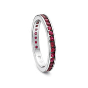 Platinum Red Ruby Band