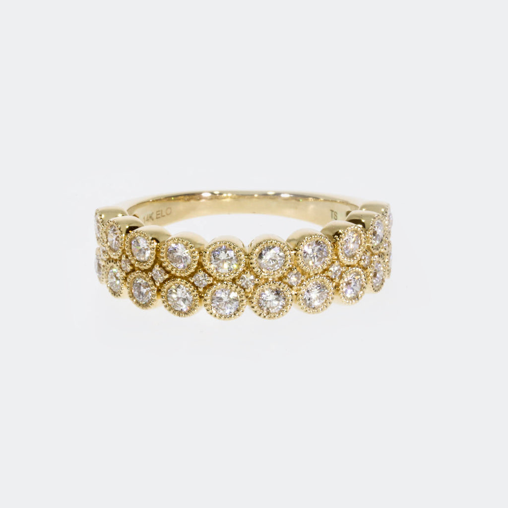 14K Yellow Gold Pave Band