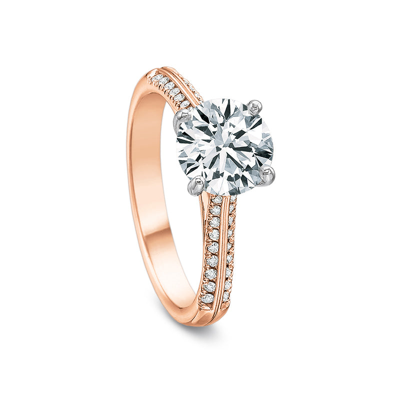 18K Rose Gold Prong Setting