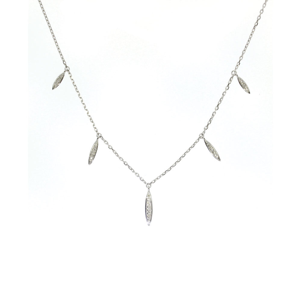 Pave Dangle Station Necklace