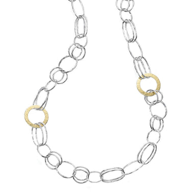 Classico Hemmered Disc Necklace in Chimera
