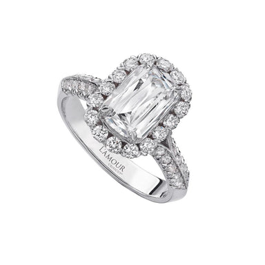 L'AMOUR CRISSCUT® DIAMOND ENGAGEMENT RING 100