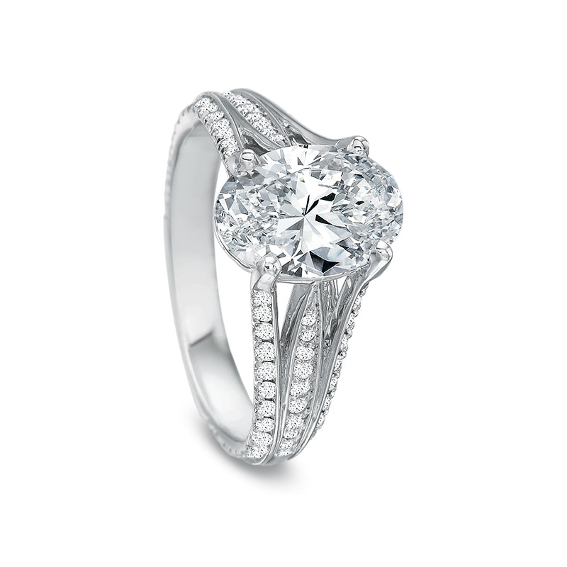 18K White Gold Split Shank Setting