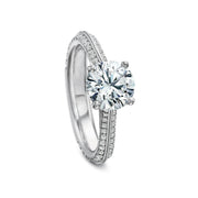 18K White Gold Prong Setting