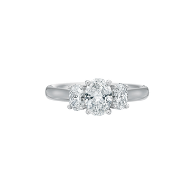 Platinum Flush Fit Diamond Setting