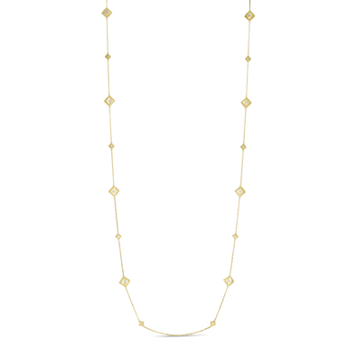 Palazzo Ducale Satin Multi Diamond Station Chain