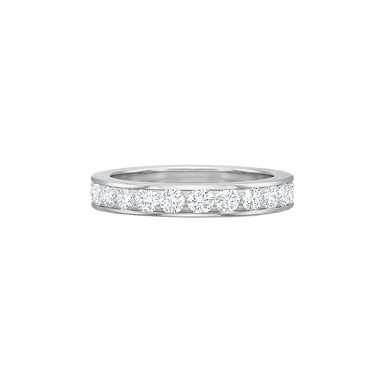 Platinum Diamond Channel Set Eternity Band