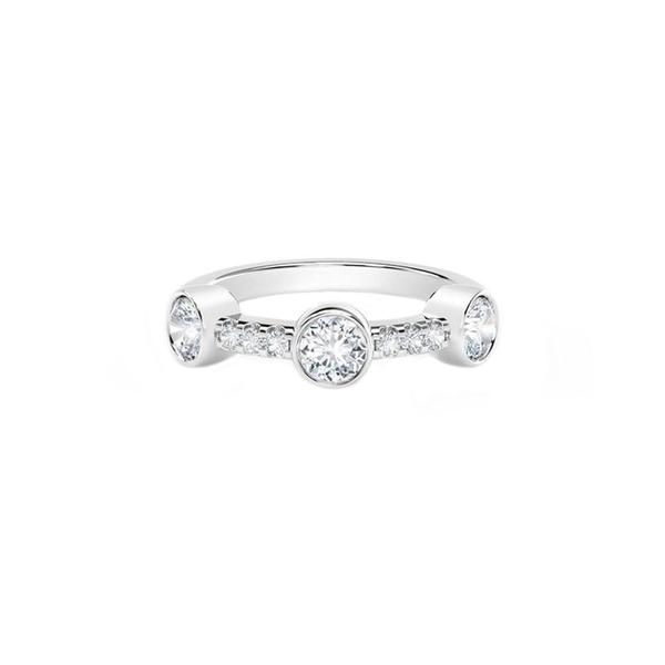18K White Gold Forevermark Diamond Tribute Ring