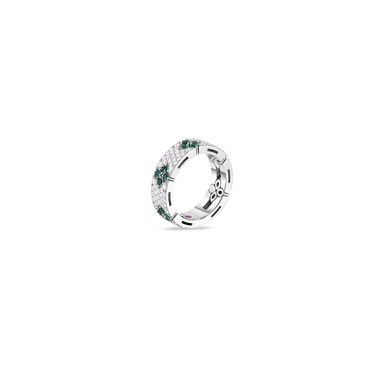 Diamond & Emerald Love in Verona Ring