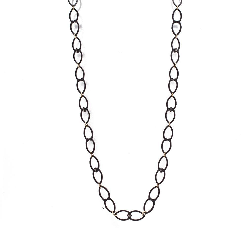 Medium Open Shield Link Necklace