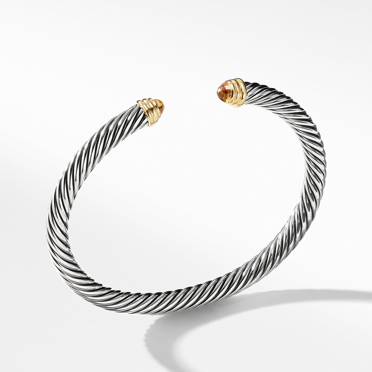 Cable Classics Collection Bracelet with Citrine and 14K Gold