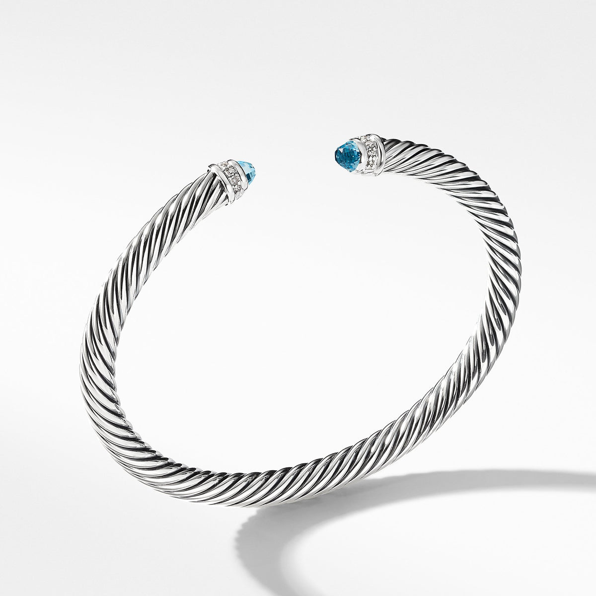 Cable Classics Collection Bracelet with Blue Topaz and Diamonds