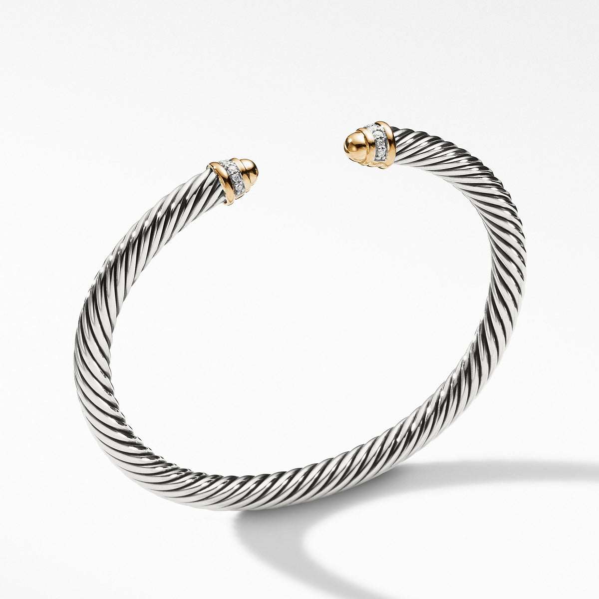 Cable Classics Collection Bracelet with Diamonds and 18K Gold