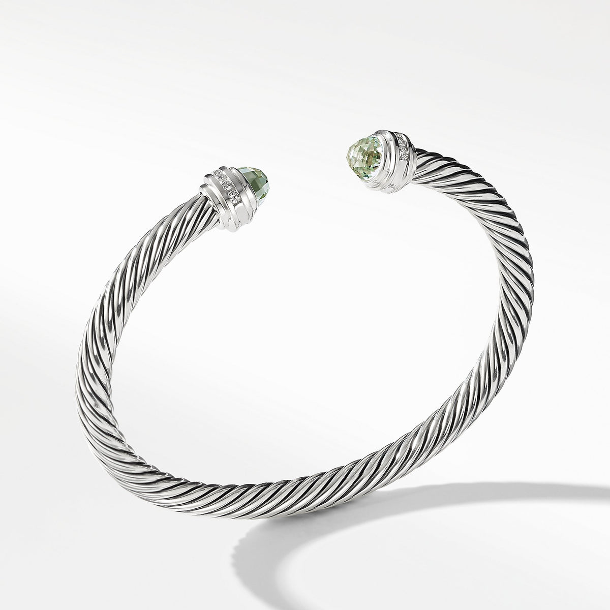 Bracelet with Prasiolite and Diamonds