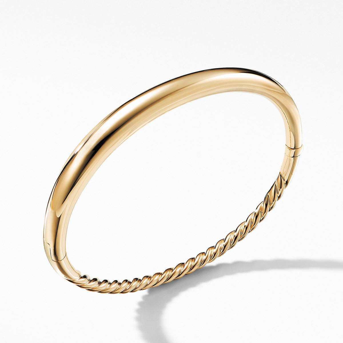 Pure Form Smooth Bracelet in 18K Gold