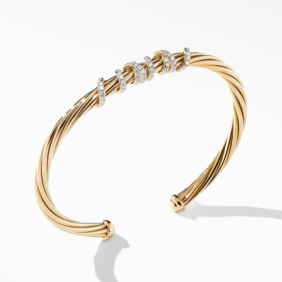 Helena Center Station Bracelet in 18K Yellow Gold with Diamonds
