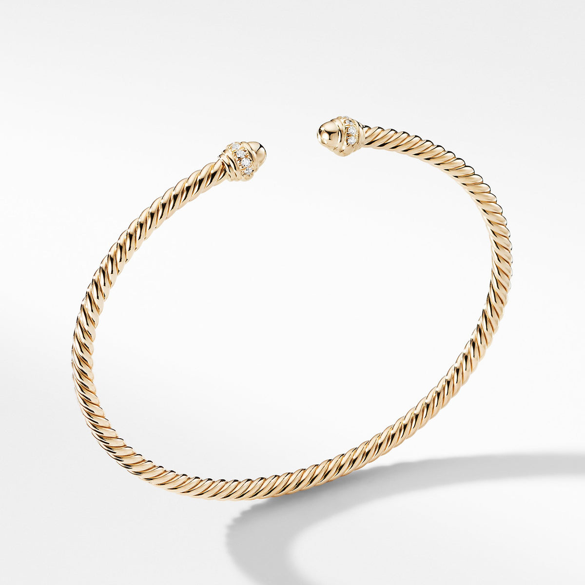 Cable Spira Bracelet in 18K Gold with Diamonds