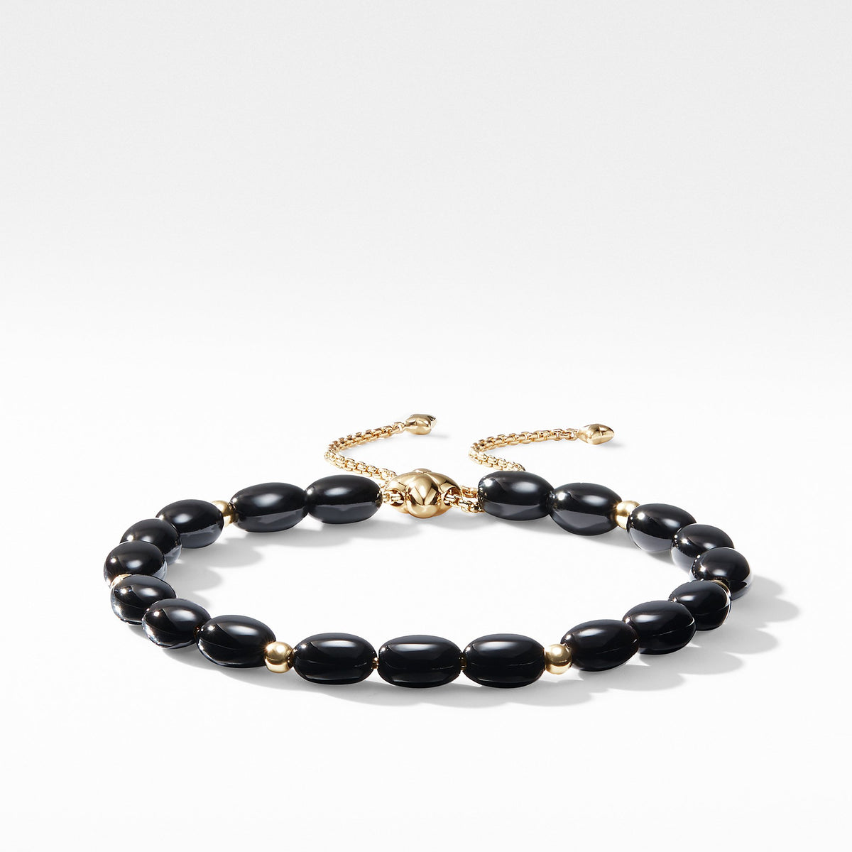 Spiritual Bead Bracelet with Black Onyx and 18K Gold
